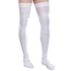 Therafirm Core-Spun Thigh High Socks w/Silicone Band - 30-40 mmHg White