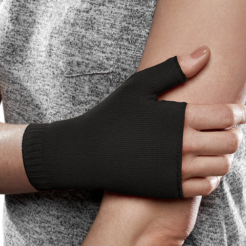 Therafirm EASE Opaque Lymphedema Gauntlet - 30-40 mmHg black