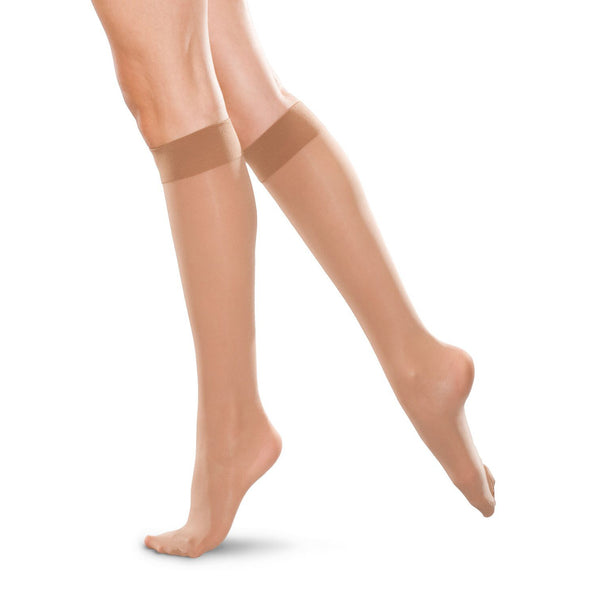 Therafirm Men's and Women's Closed Toe Knee Highs - 30-40 mmHg - Sand