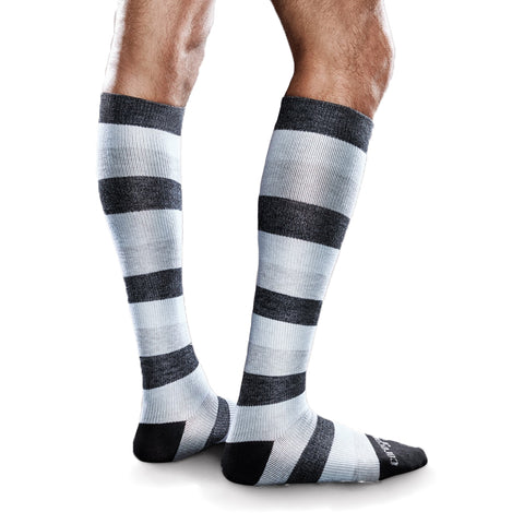 Therafirm Core-Spun Moderate Support Patterned Socks - 20-30 mmHg
