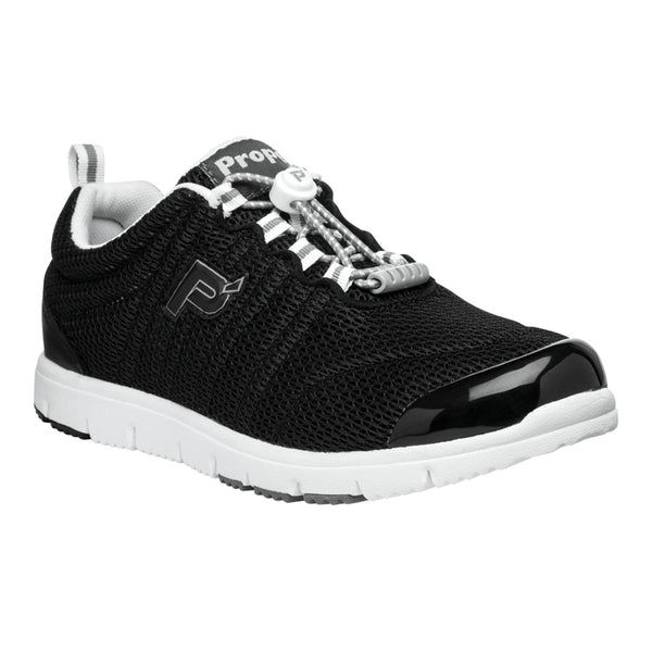 Propet Women's TravelWalker II Shoes - Black Mesh