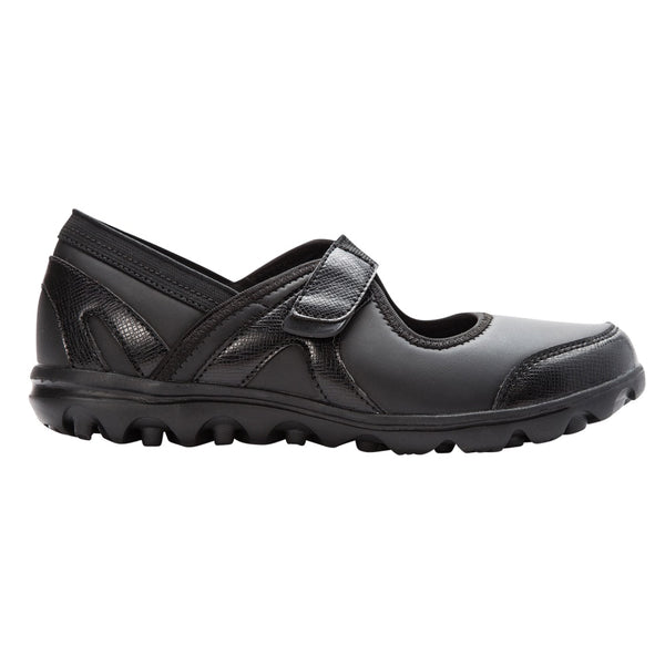 Propet Women's Onalee Shoes All Black Smooth