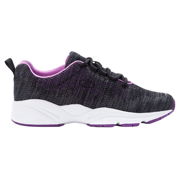 Propet Women's Stability Fly Sneakers Black/Berry
