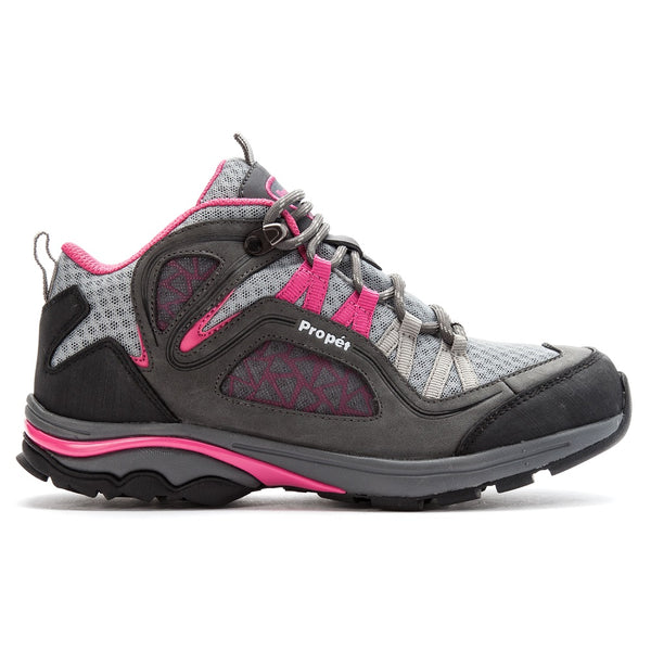 Propet Women's Peak Shoes Grey/Berry