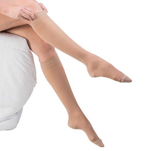 Dr. Comfort Women's Select Sheer Knee Highs - 20-30 mmHg Beige Lifestyle