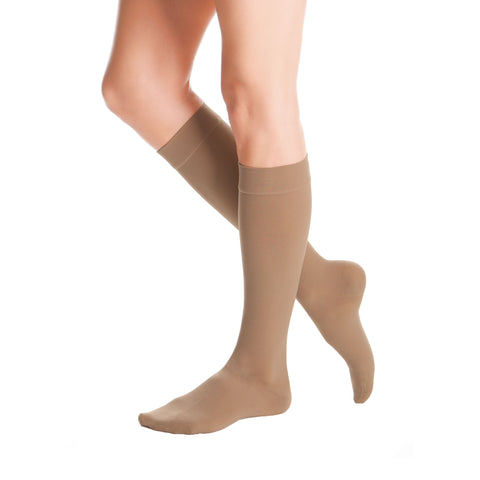 Medi Duomed Advantage Soft Opaque Closed Toe Knee Highs - 15-20 mmHg - Almond