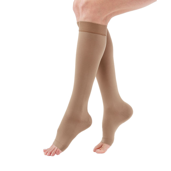 Medi Duomed Advantage Soft Opaque Open Toe Knee Highs - 20-30 mmHg - Almond