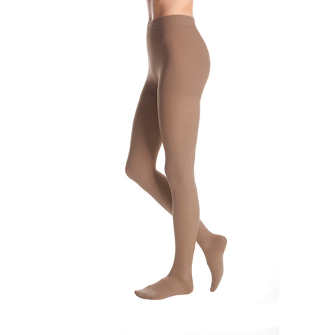 Medi Duomed Advantage Soft Opaque Closed Toe Pantyhose - 20-30 mmHg - Almond