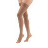 Medi Duomed Advantage Soft Opaque Open Toe Thigh Highs w/Beaded Band - 30-40 mmHg