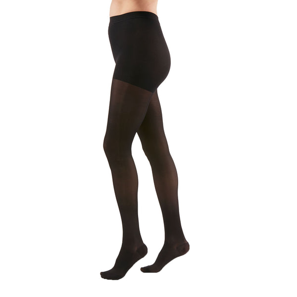 Medi Duomed Transparent Sheer Closed Toe Pantyhose - 15-20 mmHg - Black