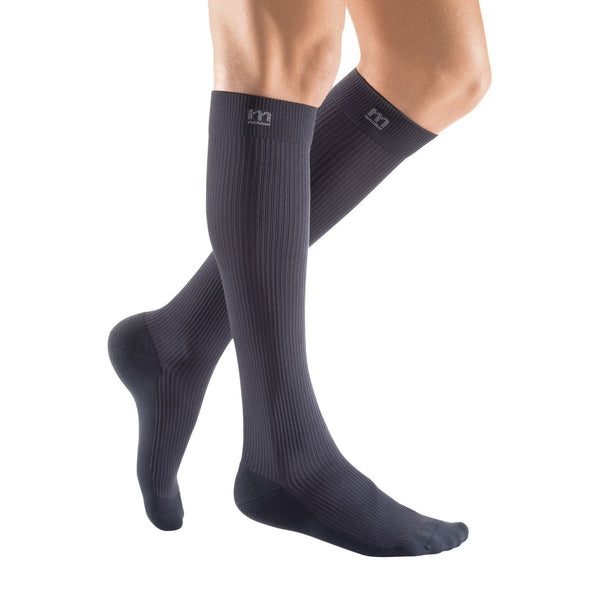 Medi Active Men's Closed Toe Knee Highs - 20-30 mmHg - Gray