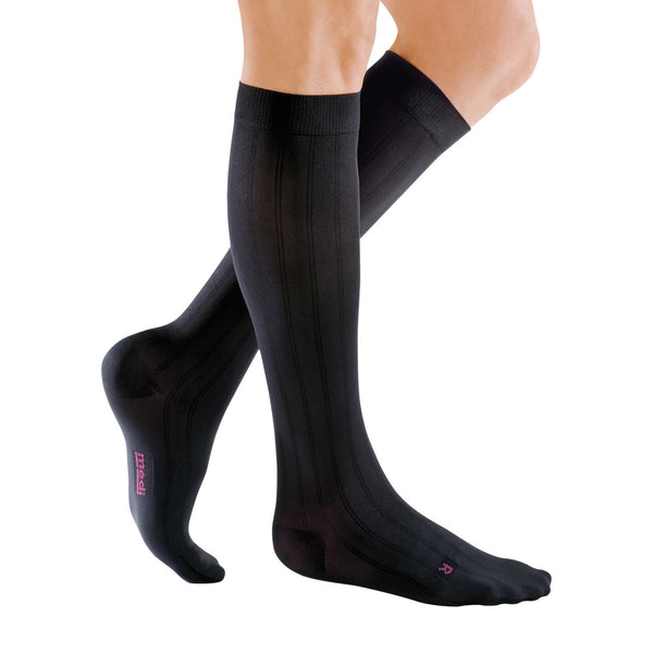 Medi for Men Knee High Classic Socks - 20-30 mmHg - Black