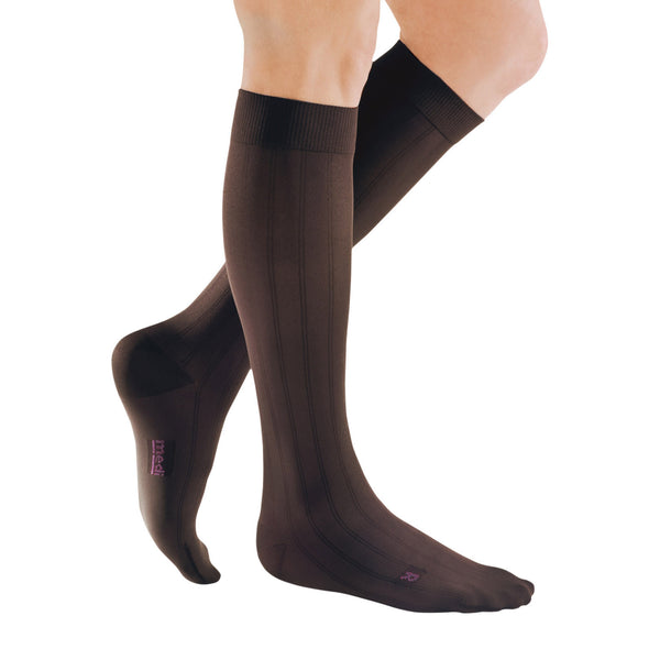 Medi for Men Knee High Classic Socks - 30-40 mmHg - Brown
