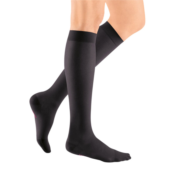Medi Sheer & Soft Closed Toe Knee Highs- 20-30 mmHg - Ebony