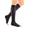 Medi Sheer & Soft Open Toe Knee Highs -15-20 mmHg - Ebony
