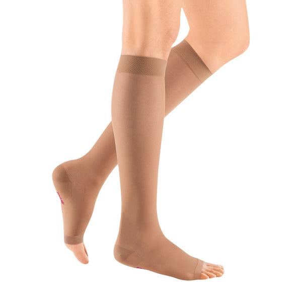 Medi Sheer & Soft Open Toe Knee Highs -30-40 mmHg - Natural