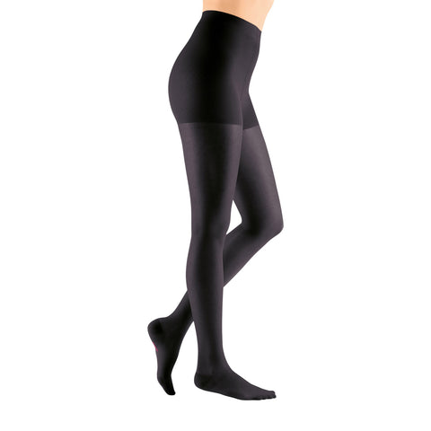 Medi Sheer & Soft Closed Toe Pantyhose - 30-40 mmHg - Ebony