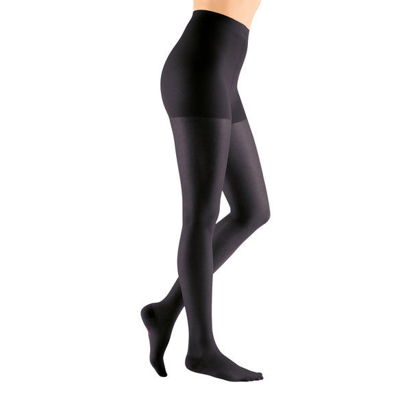 Medi Sheer & Soft Closed Toe Pantyhose - 8-15 mmHg - Ebony