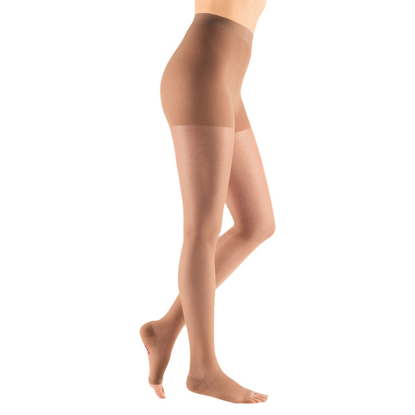 Medi Sheer & Soft Open Toe Pantyhose - 15-20 mmHg - Natural