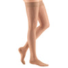 Medi Sheer & Soft Closed Toe Thigh Highs w/ Lace Band - 20-30 mmHg - Natural