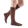 Medi Comfort Closed Toe Knee Highs -15-20 mmHg - Chocolate