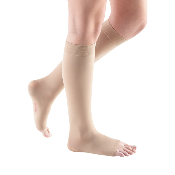 Medi Comfort Open Toe Knee Highs - 20-30 mmHg - Sandstone