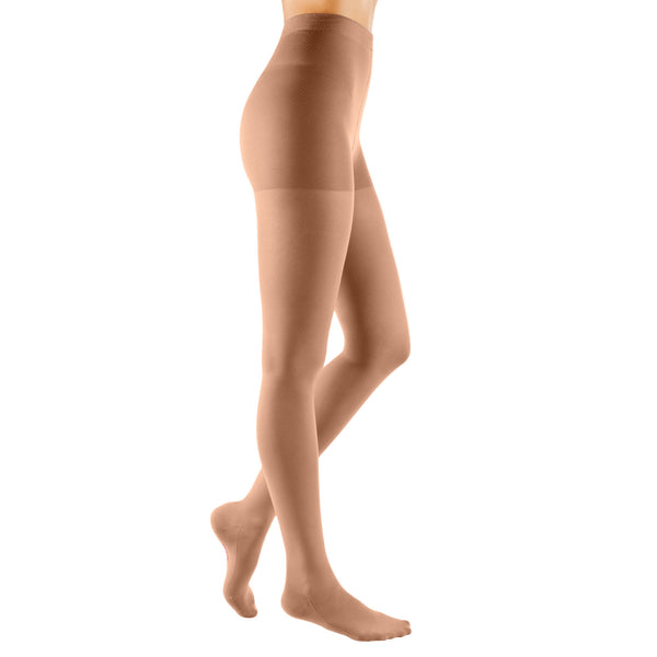 Medi Comfort Closed Toe Maternity Pantyhose - 20-30 mmHg -Natural