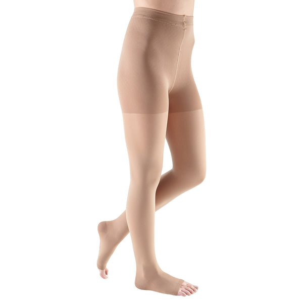 Medi Comfort Open Toe Pantyhose - 15-20 mmHg - Natural