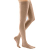 Medi Comfort Closed Toe Thigh Highs w/Silicone Dot Band - 30-40 mmHg - Natural