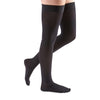 Medi Comfort Closed Toe Thigh Highs w/Silicone Dot Band - 30-40 mmHg - Ebony