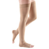Medi Comfort Open Toe Thigh Highs w/Silicone Dot Band - 20-30 mmHg - Natural