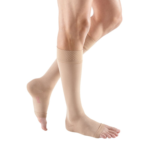 Medi Forte Open Toe Knee Highs w/ Dotted Silicone Band - 40-50 mmHg