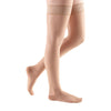 Medi Sheer & Soft Closed Toe Thigh Highs w/ Lace Band - 20-30 mmHg - Toffee