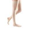 Medi Sheer & Soft Closed Toe Thigh Highs w/ Lace Band - 30-40 mmHg - Wheat