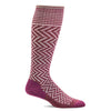 SockWell Women's Chevron Knee High Socks - 15-20 mmHg Mulberry