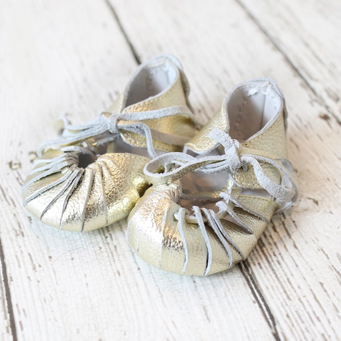 Gold Boho Gladiator Moccs - Short and long laces!