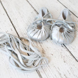 Silver Boho Gladiator Moccs - Short and long laces!