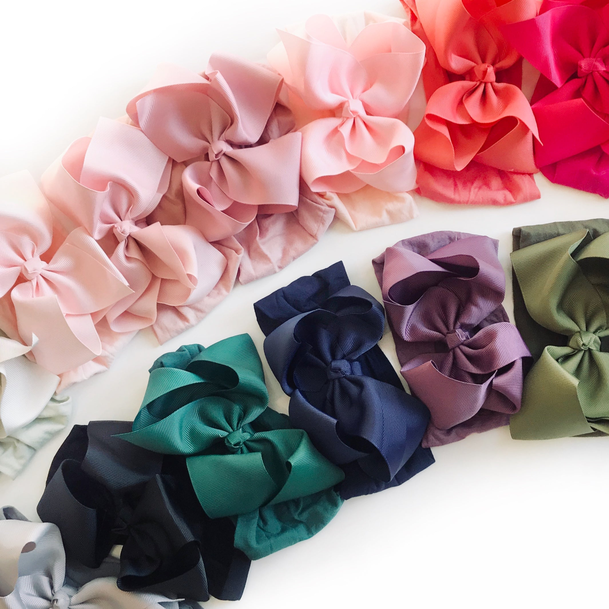 Grosgrain Bow Nylon Headwraps  * MANY COLORS!
