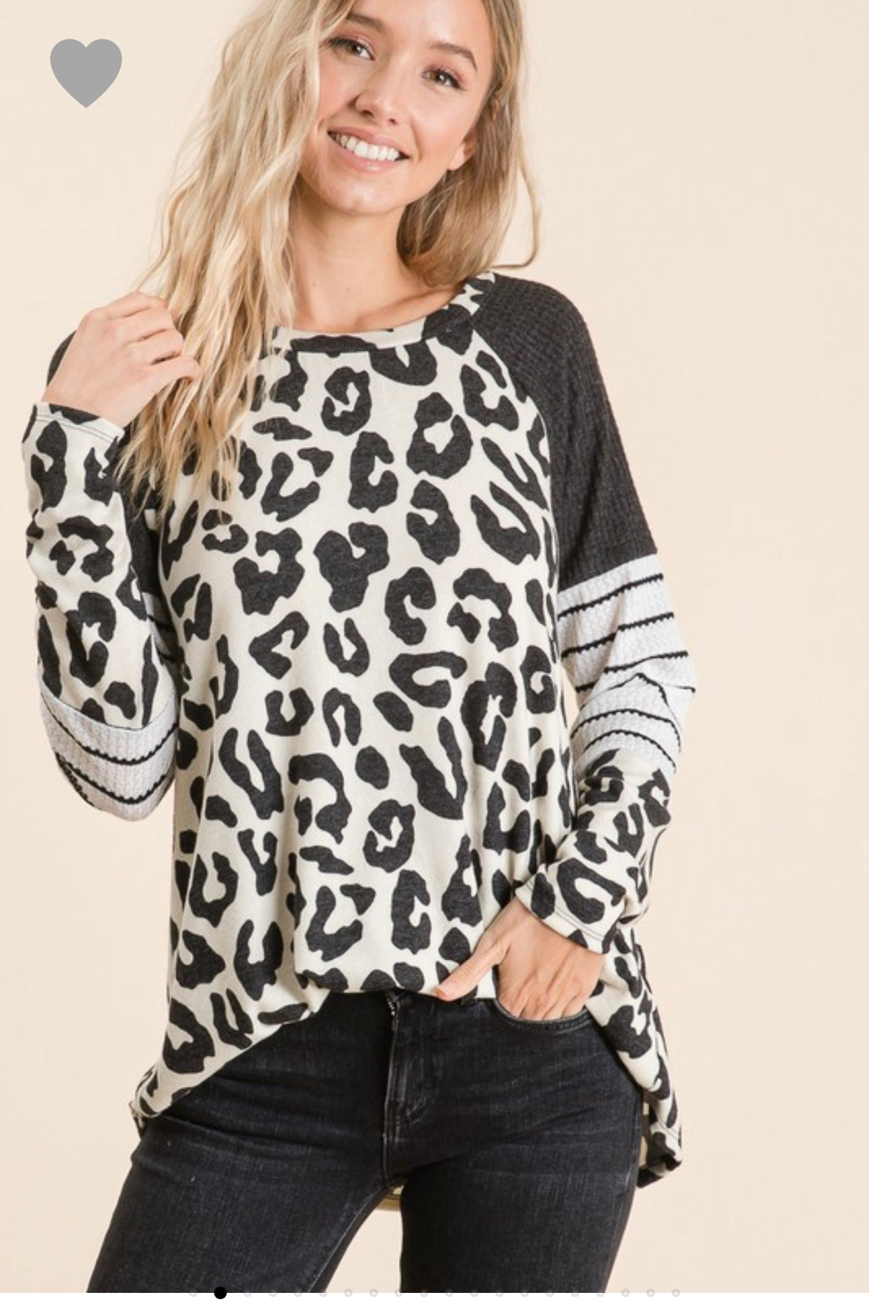 Leopard and Stripe long Sleeve