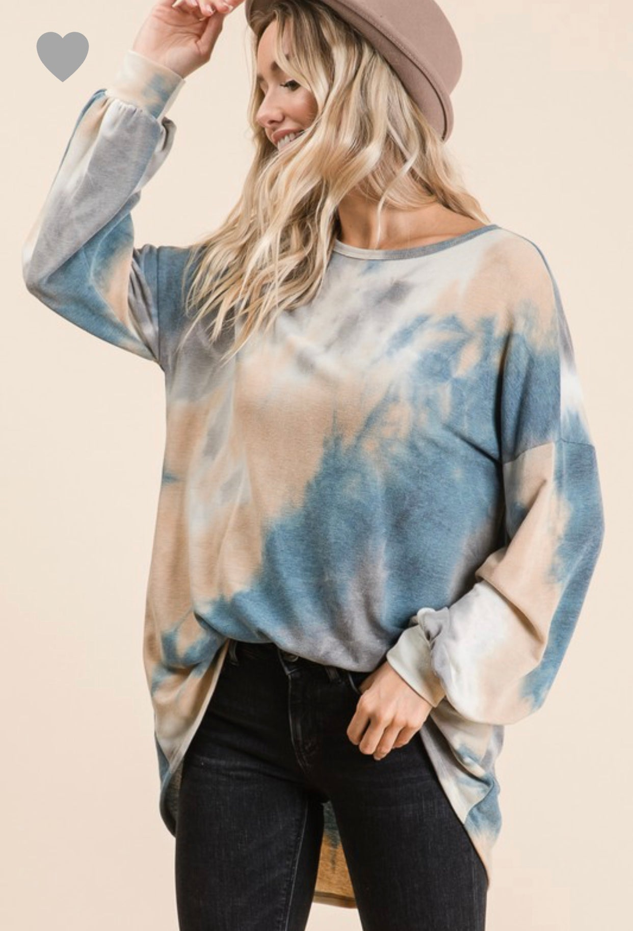 Tie Dye with puff sleeves