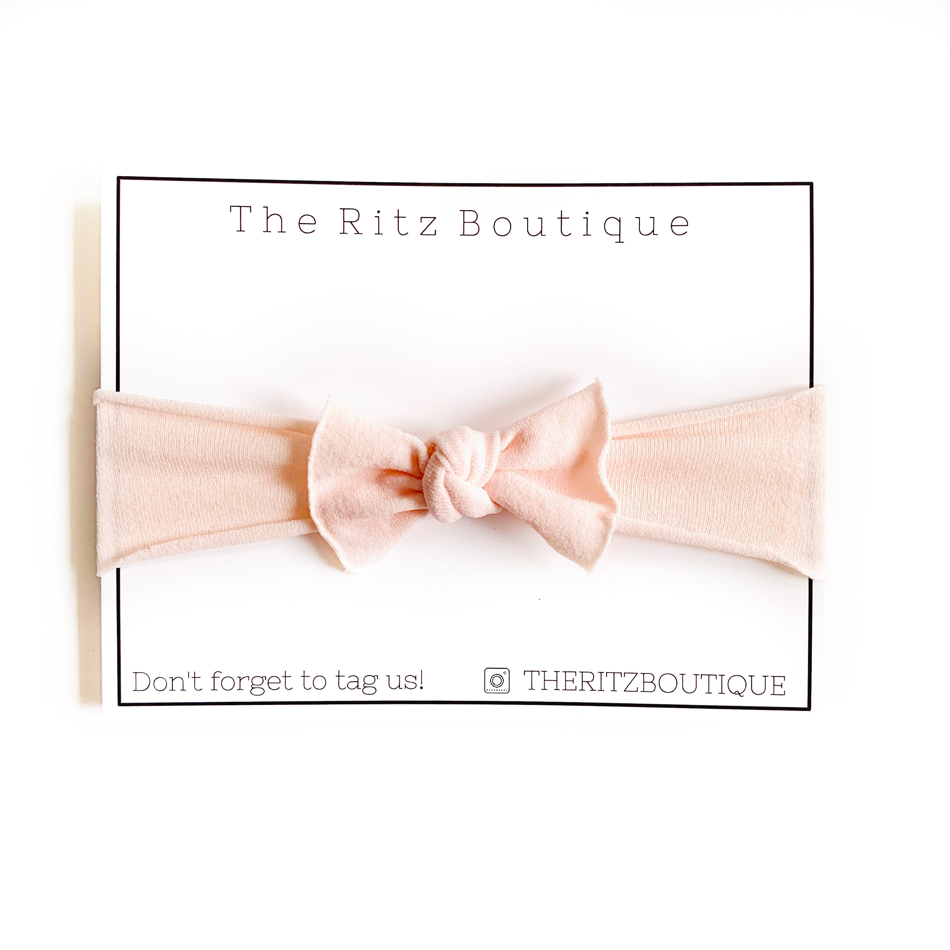 Pale Peach Mini Nylon Headband