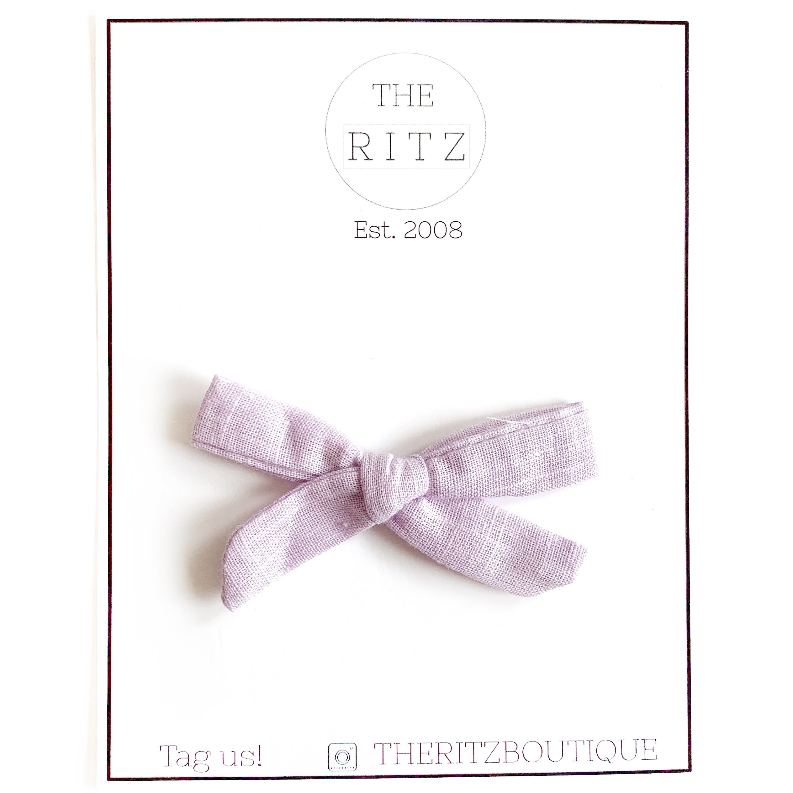 Lavender Mini Linen Bow