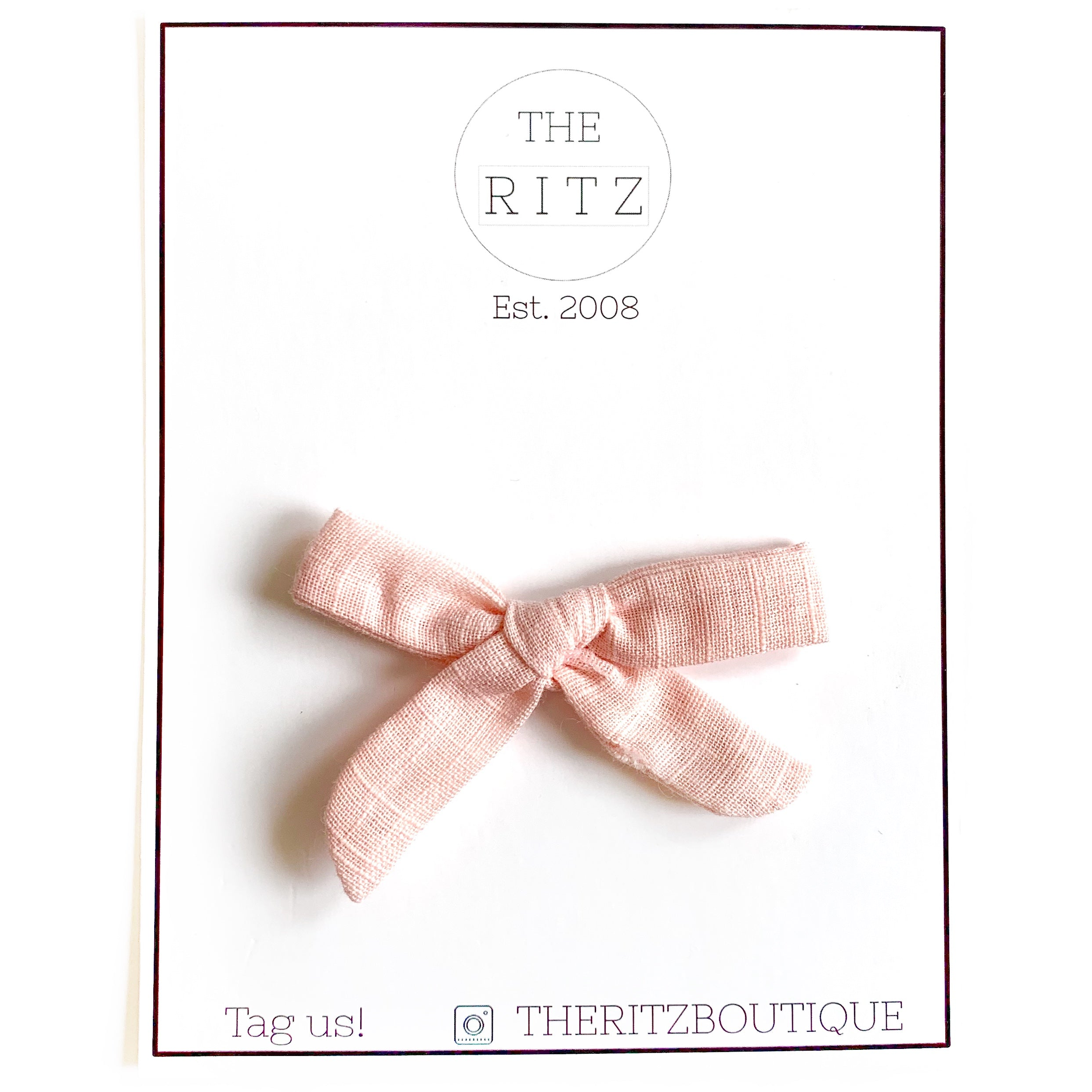 Peach Mini Linen Bow