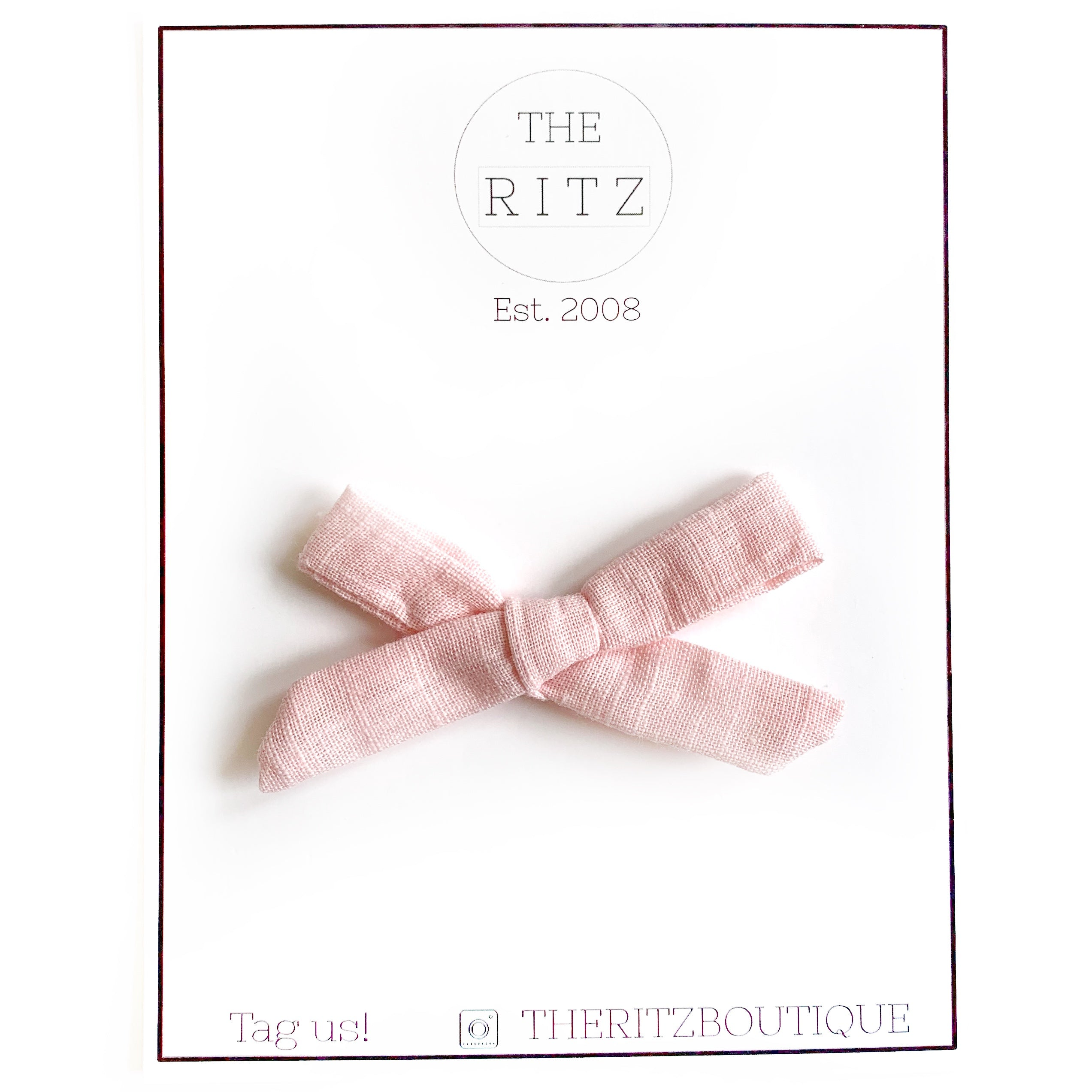 Blush Mini Linen Bow