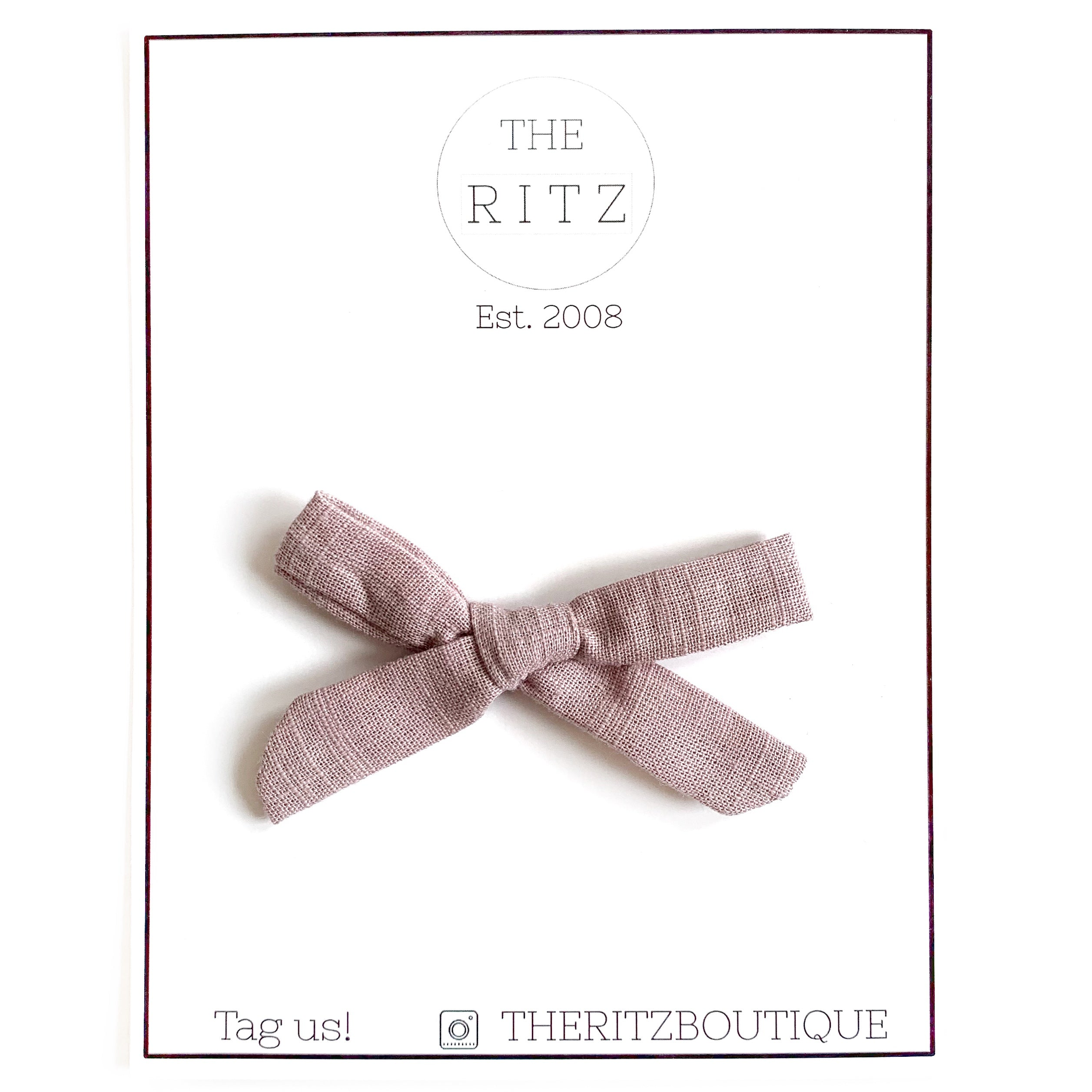 Dusty Mauve Mini Linen Bow