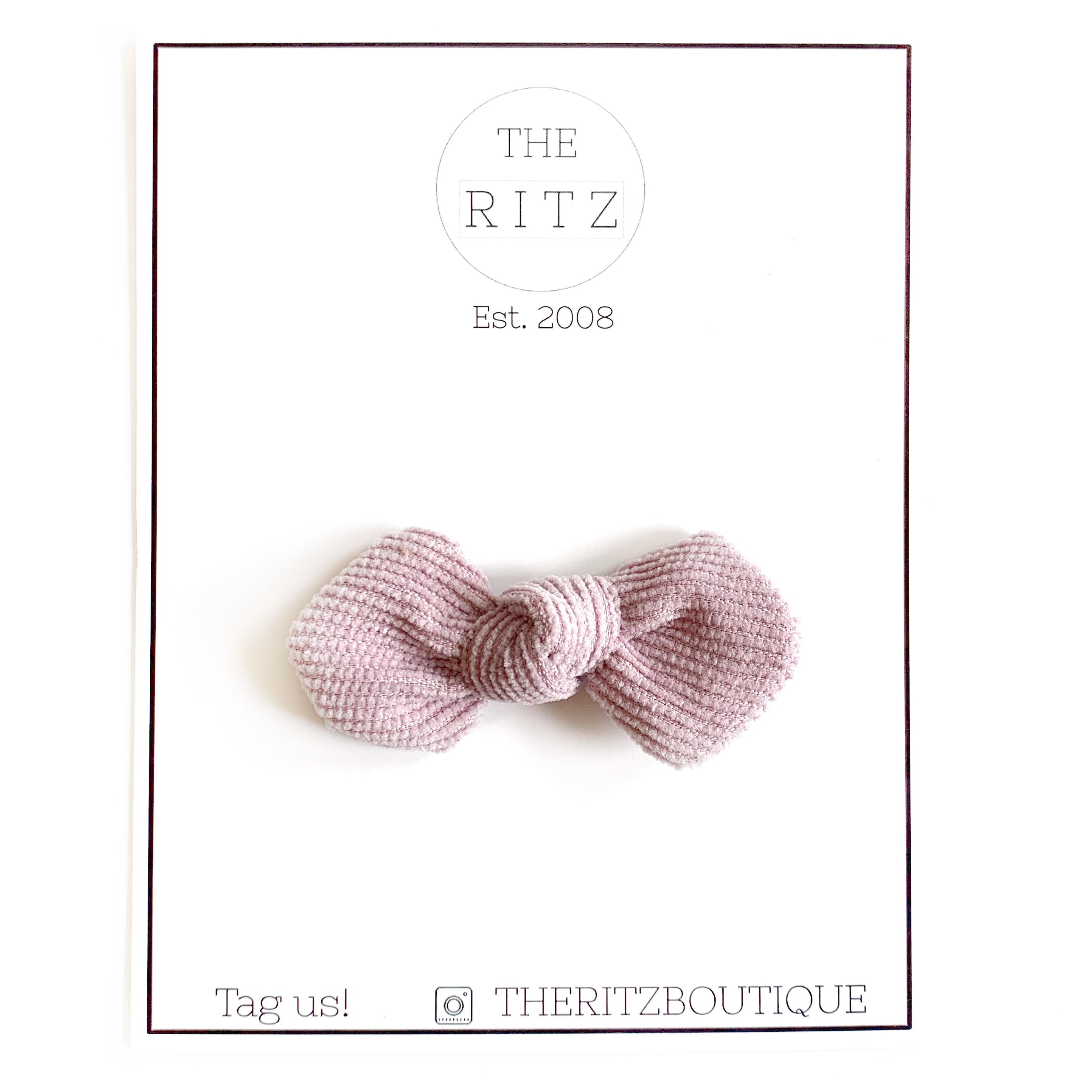 Dusty Pink Mini Pinwheel Corduroy Bow