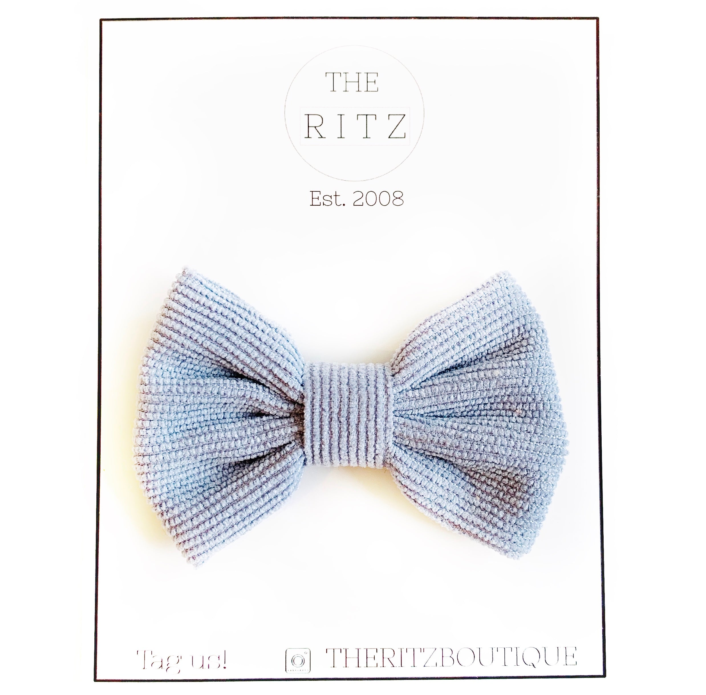 Blue Willow Corduroy Bow-tie Midi Bow