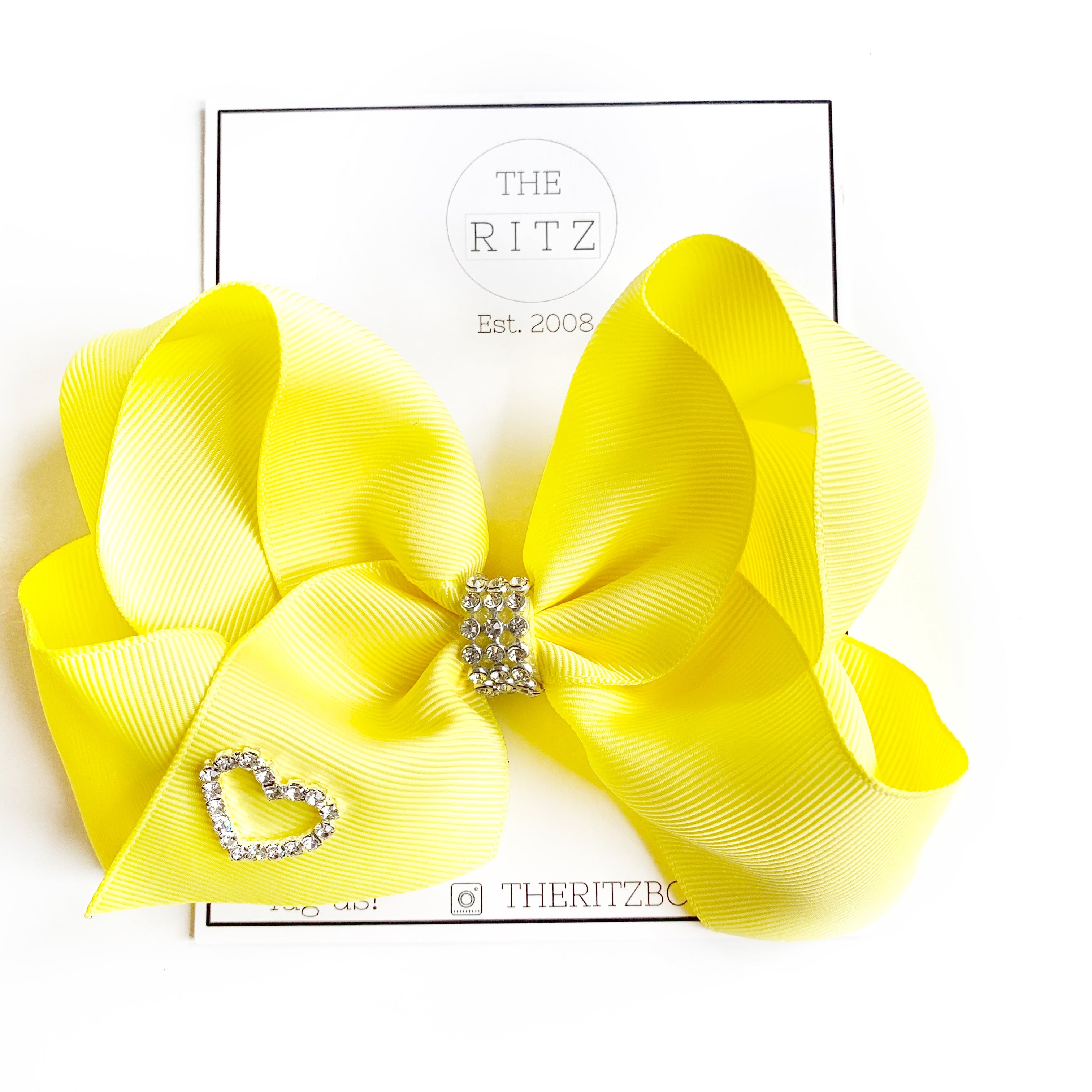 Yellow Biggie Jersey Bow Clip