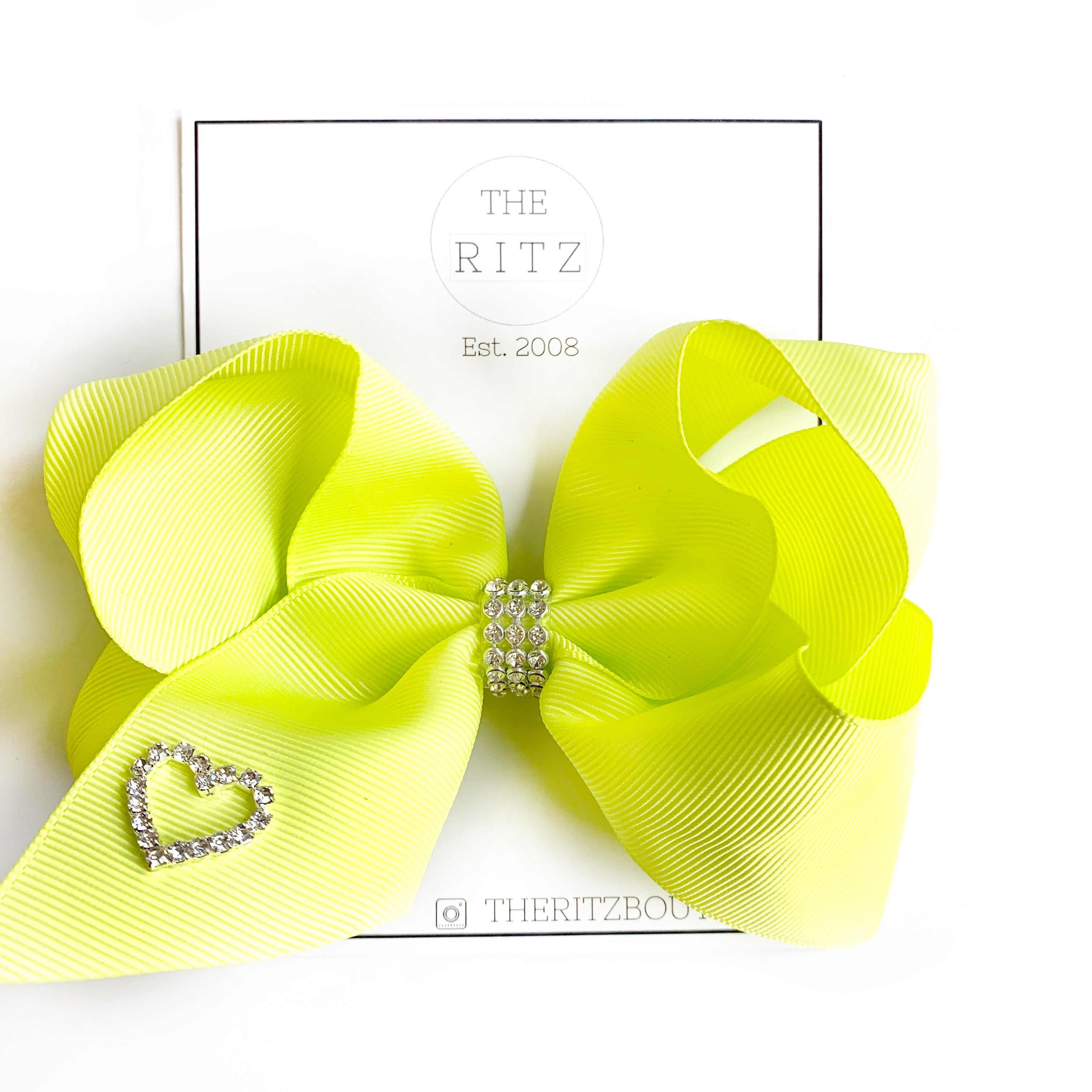 Chartreuse Biggie Jersey Bow Clip