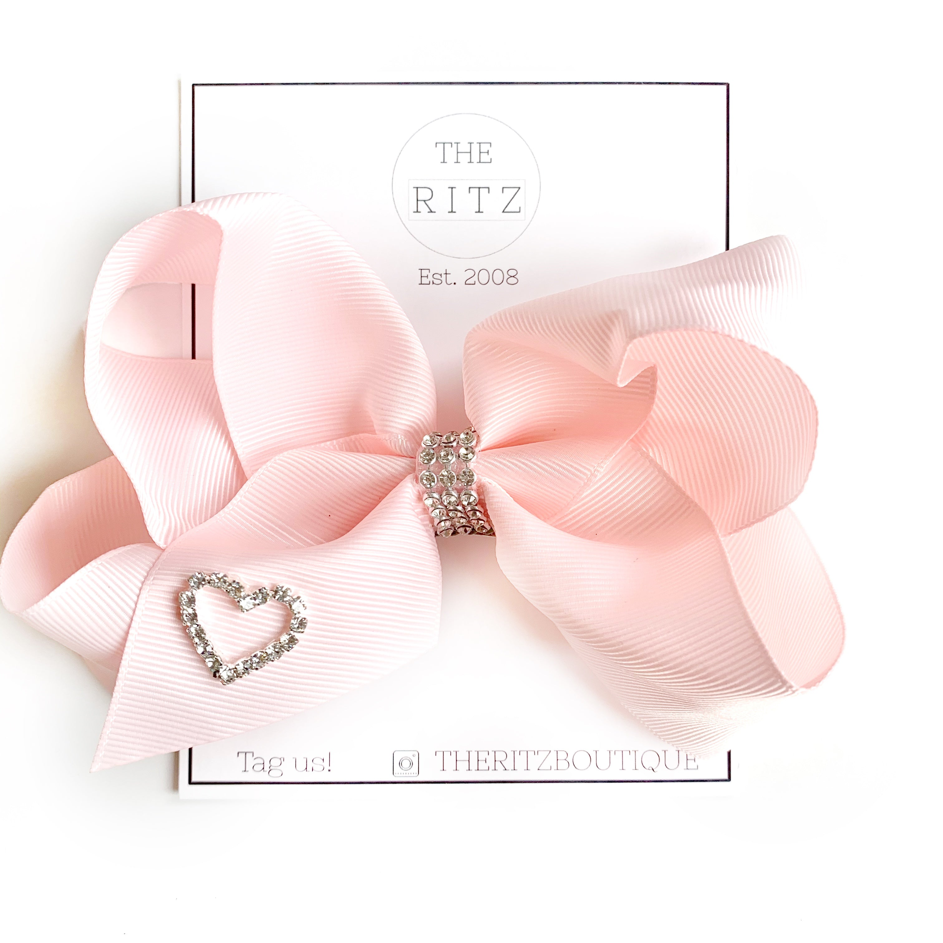 Pink Biggie Jersey Bow Clip